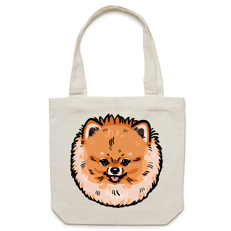 Pomeranian Canvas Tote Bag