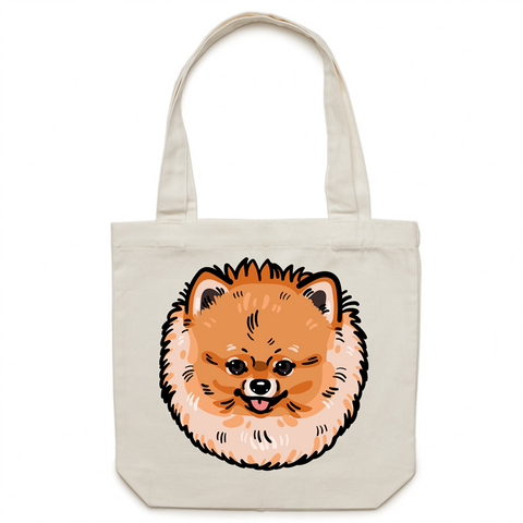 Pomeranian Canvas Tote Bag - PomWorld.Com