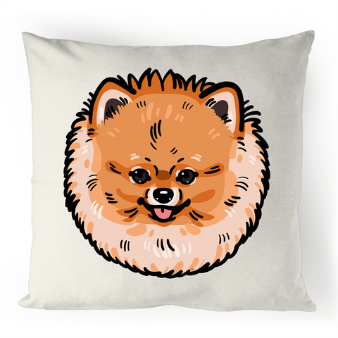 Pomeranian 100% Linen Cushion Cover - PomWorld.Com