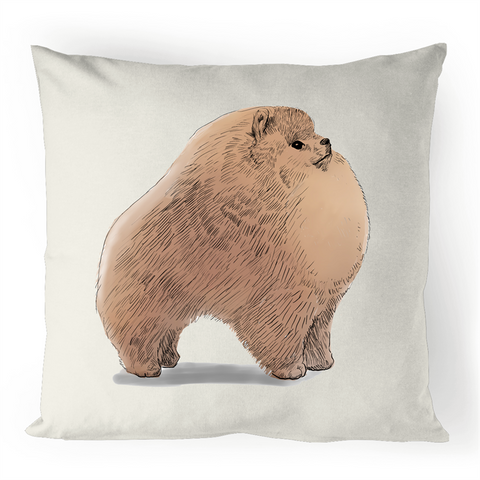 Pomeranian100% Linen Cushion Cover - PomWorld.Com
