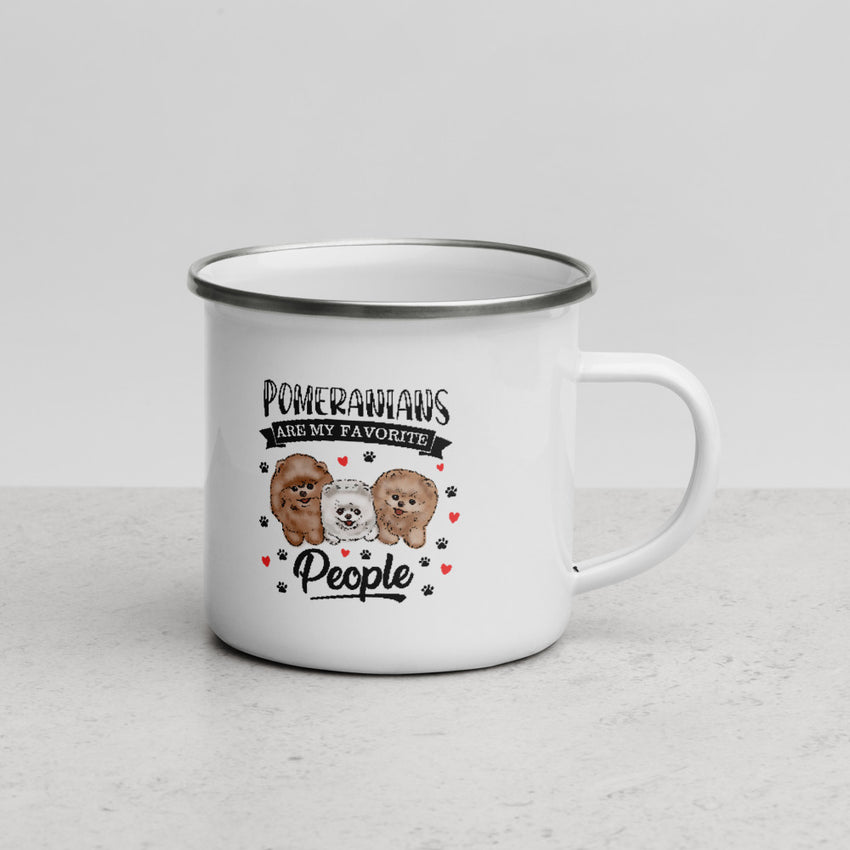 Pomeranians Are My Favorite People Enamel Mug - PomWorld.Com