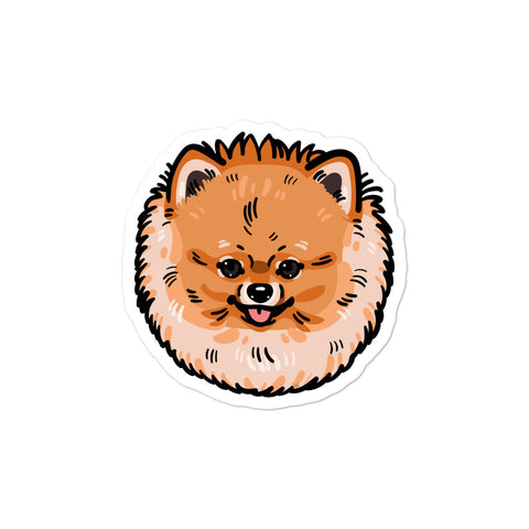 Pomeranian Dog Bubble-free stickers - PomWorld.Com