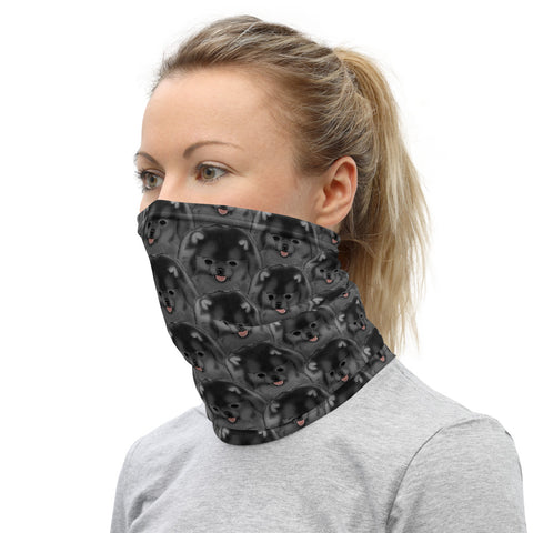 Black Pomeranian Neck Gaiter - PomWorld.Com