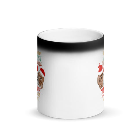 Pomeranian Christmas Matte Black Magic Mug - PomWorld.Com