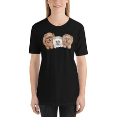 3 Pomeranian Short-Sleeve Unisex T-Shirt - PomWorld.Com