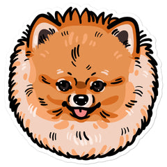 Pomeranian Dog Bubble-free stickers