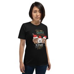Christmas Pomeranian Short-Sleeve Unisex T-Shirt designed by Denise and unique to PomWorld.Com. - PomWorld.Com