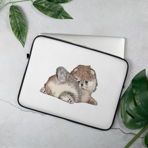 Pomeranian Puppy Laptop Sleeve