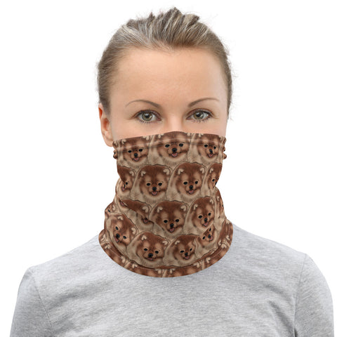 Orange Pomeranian Neck Gaiter - PomWorld.Com