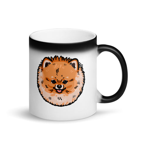 Matte Black Magic Pomeranian Mug - PomWorld.Com