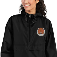 Pomeranian Embroidered Champion Packable Jacket