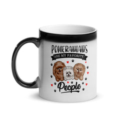 Pomeranians Are My Favorite People Glossy Magic Mug - PomWorld.Com