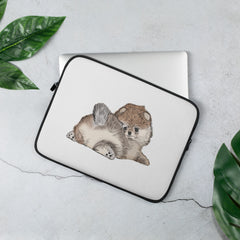 Pomeranian Puppy Laptop Sleeve - PomWorld.Com