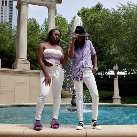 Jas and Monet the owners of Black Mentality Clothing
