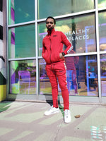 Load image into Gallery viewer, Red Rebel Fleece Tracksuit - Black Mentality Clothing
