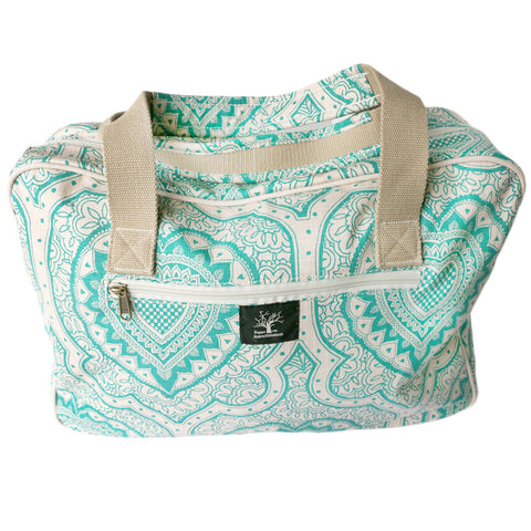 Afro Heart damask weekender bag