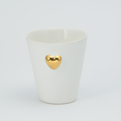 3D gold heart candle