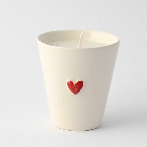 3D red heart candle