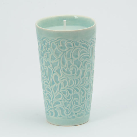 Candle - Embossed leaf