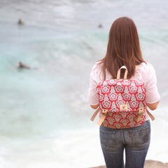 Flower clip trendy backpack