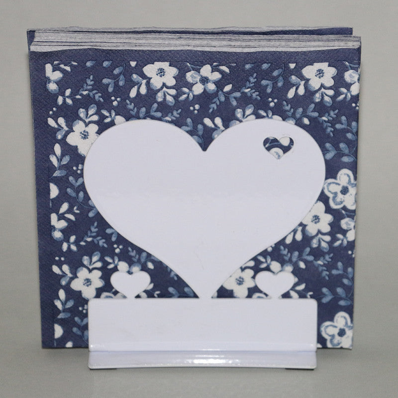 Standing heart napkin holder