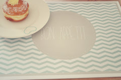 Duck egg chevron paper placemats