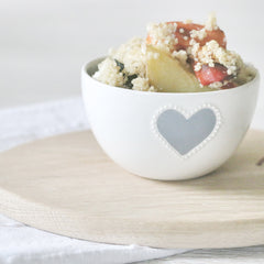 Small grey heart bowl