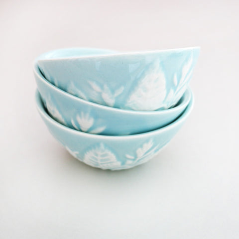Ice cream trio bowl set - turquoise