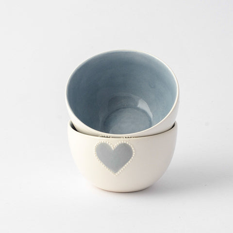 Mini grey heart bowl