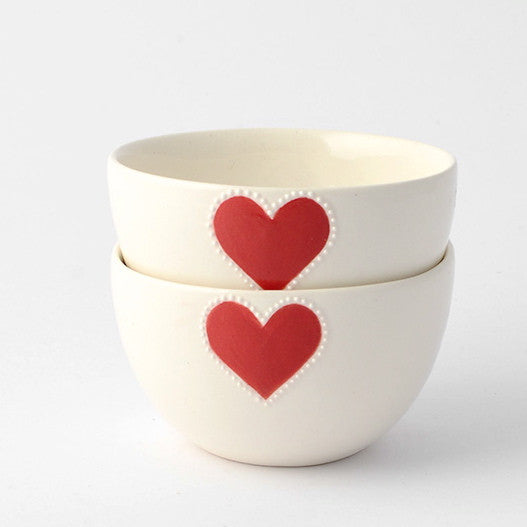 Mini red heart bowl