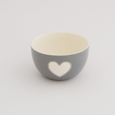 Mini viva grey heart bowl