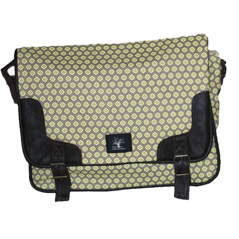 Polka dot messenger bag