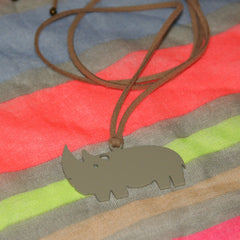 Rhino long necklace