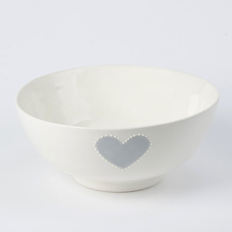 Medium salad bowl - grey heart