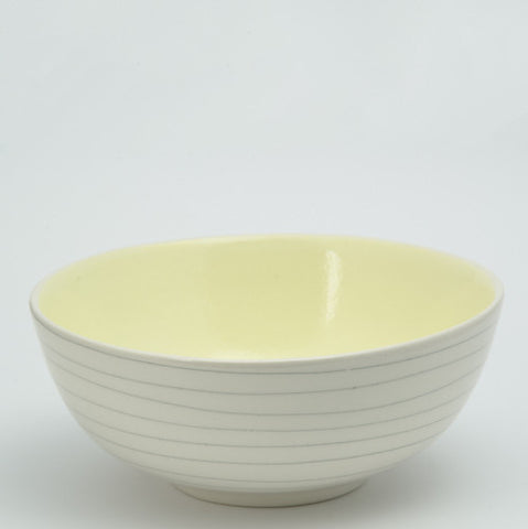 Medium salad bowl - buttercup stripe