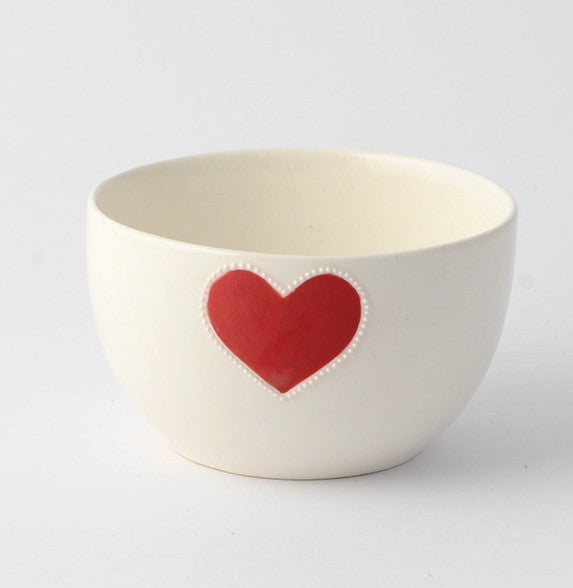 Small red heart bowl