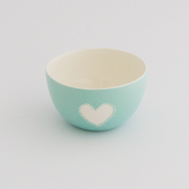 Small viva turquoise heart bowl