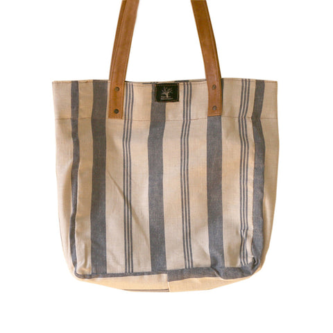Stripe Indigo country shopper