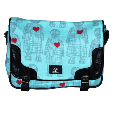 Aqua love doll messenger bag