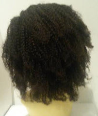 "PrettyLoxx Indian Remy Afro Curl Full Lace Wig 12"" col 1b SALE"
