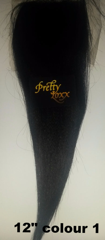 Pretty Loxx Indian Remy Yaki Straight Lace Closure
