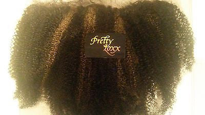 "PrettyLoxx Brazilian Virgin Afro Curl Lace Frontal, 14"" Col 1b/8"