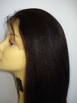 Pretty Loxx Indian Remy Coarse Yaki Lace Front Wig all colours and lengths