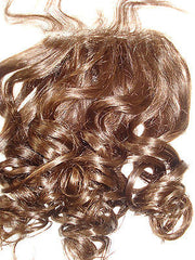 "Pretty Loxx Indian Remy Beach Wave Lace Closure  12"" 14"" 16"" 18"" col 1, 1b, 2 - PrettyLoxx"