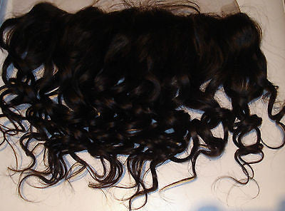 PrettyLoxx Indian Remy Lace Frontal Curl 33 with/without adjustable headband