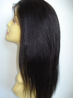 Pretty Loxx Indian Remy Coarse Yaki Silk Top Full Lace Wig