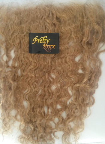 "PRETTY LOXX 14"" WAVY INDIAN REMY FRONTAL COL 27"