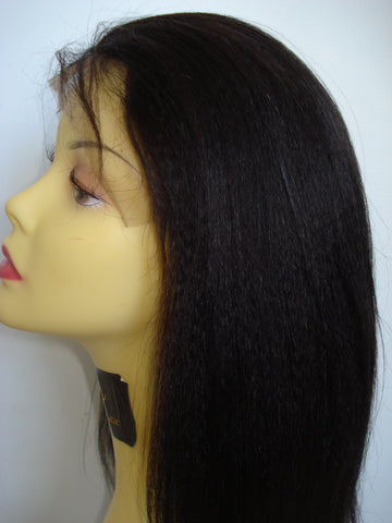 Pretty Loxx Indian Remy Coarse Yaki Lace Front Wig