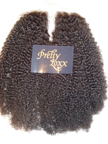 Pretty Loxx Indian Remy U Part Lace Closure Afro