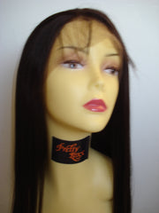 "Synthetic Lace front wig by Pretty Loxx Colour 2 yaki 18"" - PrettyLoxx"